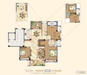 祥生悦山湖3室2厅2卫135平方米户型图