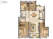 中海九玺4室2厅2卫132平方米户型图
