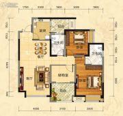 福庆花雨树3室2厅2卫104平方米户型图