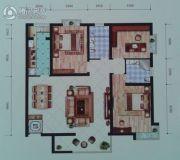 远达锦绣半岛3室2厅2卫134平方米户型图
