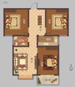 豫大・香港城3室2厅1卫110平方米户型图