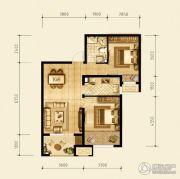 永定河孔雀城英国宫2室1厅1卫0平方米户型图