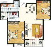 岭秀新城2室2厅1卫94平方米户型图