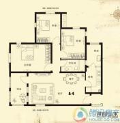 思念果岭国际社区3室2厅1卫116平方米户型图