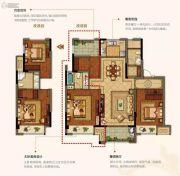 美的公园天下3室2厅1卫112平方米户型图