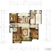 和成七星大观3室2厅2卫143平方米户型图