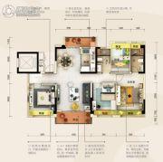 碧桂园・半岛1号4室2厅2卫129平方米户型图