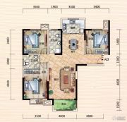 世界城3室2厅2卫125--126平方米户型图