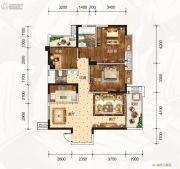 龙湾公馆3室2厅2卫127平方米户型图