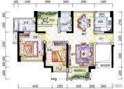 幸福港湾二期2室2厅2卫89平方米户型图