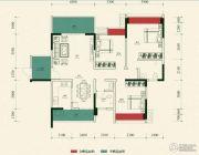 金雁帝景豪庭3室2厅2卫124平方米户型图
