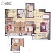 山�Z轩3室2厅1卫75平方米户型图