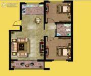 琅琊首府2室2厅1卫81平方米户型图