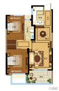 金都夏宫2室2厅1卫0平方米户型图