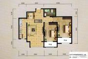 尚品国际2室2厅1卫88平方米户型图