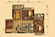 汇乔金色名都3室2厅2卫80平方米户型图