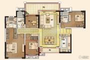 佛山万科城4室2厅2卫174平方米户型图