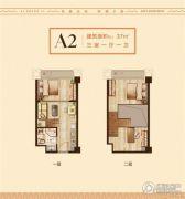 爱尚里3室1厅1卫37平方米户型图