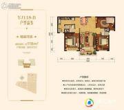 碧桂园・翡翠郡3室2厅2卫118平方米户型图