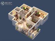 台北城上城3室2厅2卫120平方米户型图