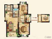 金洋奥澜半岛2室2厅1卫96平方米户型图