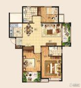 和达城上城3室2厅2卫124平方米户型图