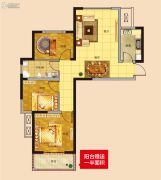 德蚨家园3室2厅1卫105平方米户型图