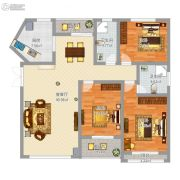 盛世观邸3室2厅2卫104平方米户型图