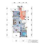 保利锦里2室1厅1卫98平方米户型图
