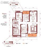 汉阳人信汇・ME TOO公馆4室2厅2卫140--141平方米户型图