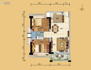 科恒岭南水岸2室2厅1卫64平方米户型图