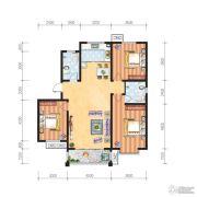 米苏阳光3室2厅2卫130平方米户型图