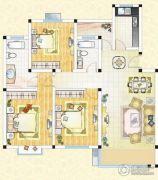 祥育苑3室2厅2卫130平方米户型图