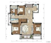 金昌越府4室2厅2卫140平方米户型图