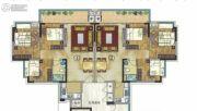 珠光御景山水城3室2厅0卫87平方米户型图