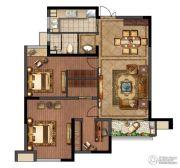 绿地峰云汇2室2厅1卫100平方米户型图