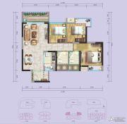 国际康城3室2厅2卫84平方米户型图