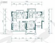 中惠�h园3室2厅2卫108平方米户型图