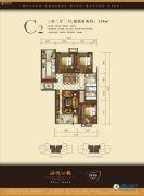远洋朗越3室2厅2卫138平方米户型图