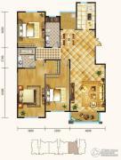 锦麟3室2厅2卫176平方米户型图