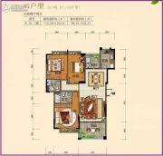 南景湾山水城3室2厅2卫112--120平方米户型图