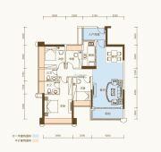 恒基五洲家园3室2厅2卫102平方米户型图