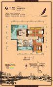 顺祥南洲1号3室2厅2卫114平方米户型图