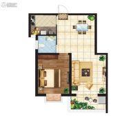 江南鸿郡1室2厅1卫65--70平方米户型图