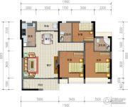 华强城市广场3室2厅2卫113平方米户型图