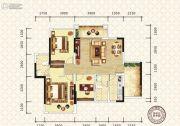 万昌东方巴黎3室2厅2卫100平方米户型图