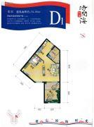 恒泰・时间海1室1厅1卫54平方米户型图