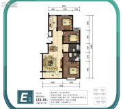 金山九泷湾3室2厅2卫123平方米户型图