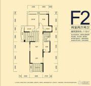 君和君泰2室2厅2卫110平方米户型图