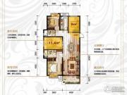 保利香槟国际2室2厅2卫117平方米户型图